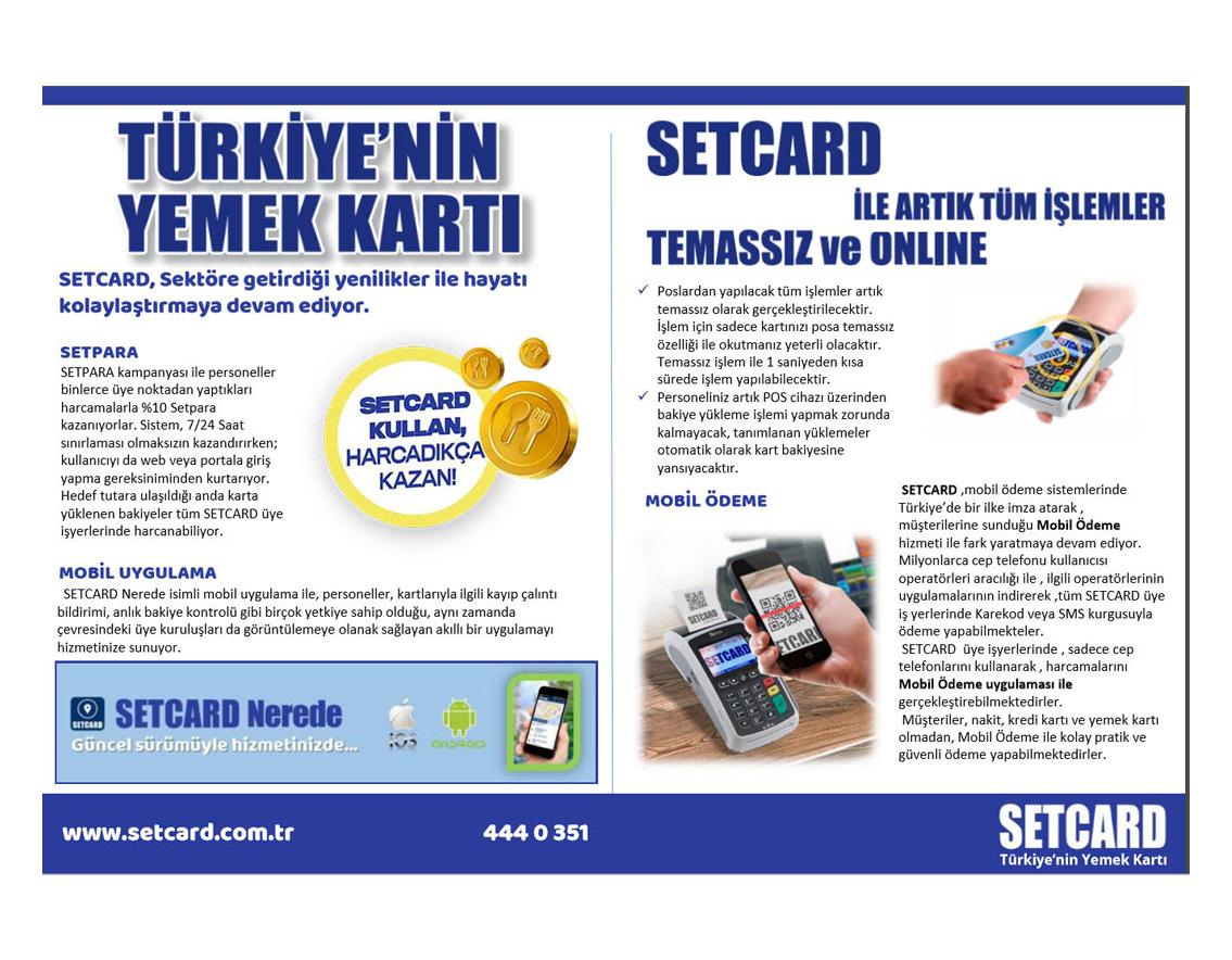Para Dergisi - Setcard, Sektöre Getirdiği Yenilikler İle Hayatı Kolaylaştırıyor